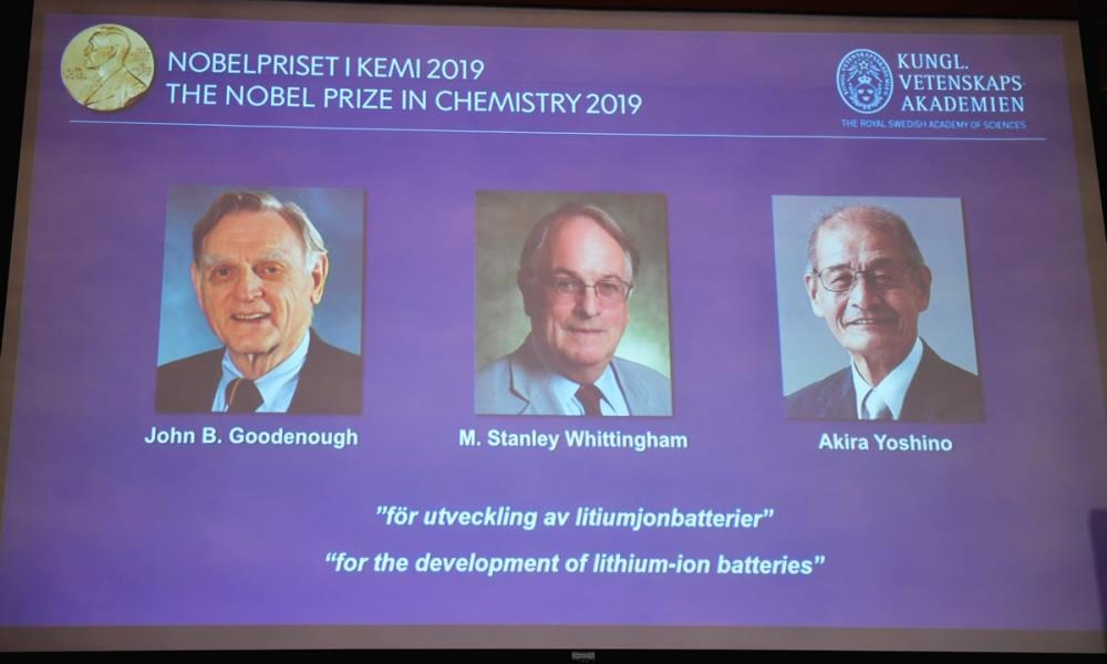 Nobel Prize in Chemistry Honours Breakthroughs in Lithium-Ion Batteries